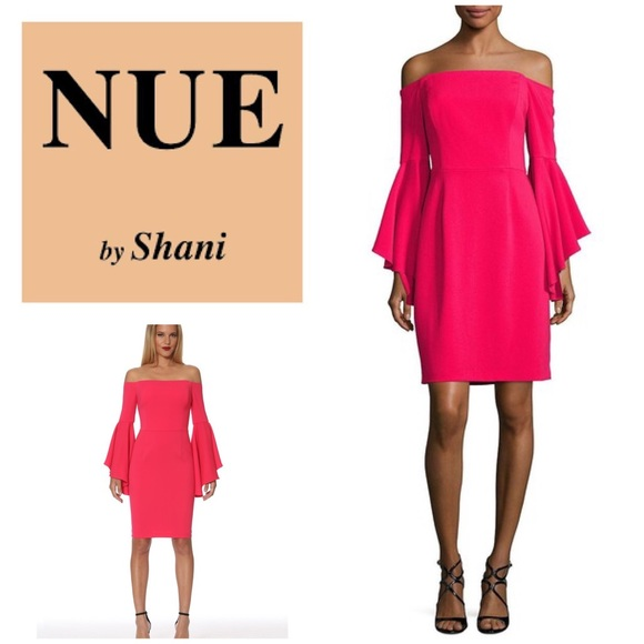 960e76cee9 New Nue by Shani Off Shoulder Bell Sleeve Dress